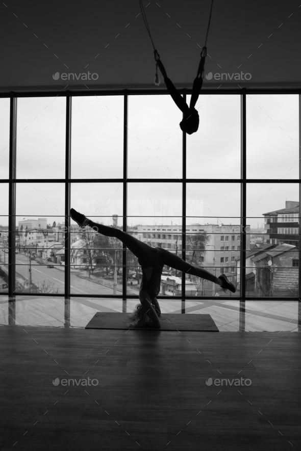 woman doing yoga - Stock Photo - Images