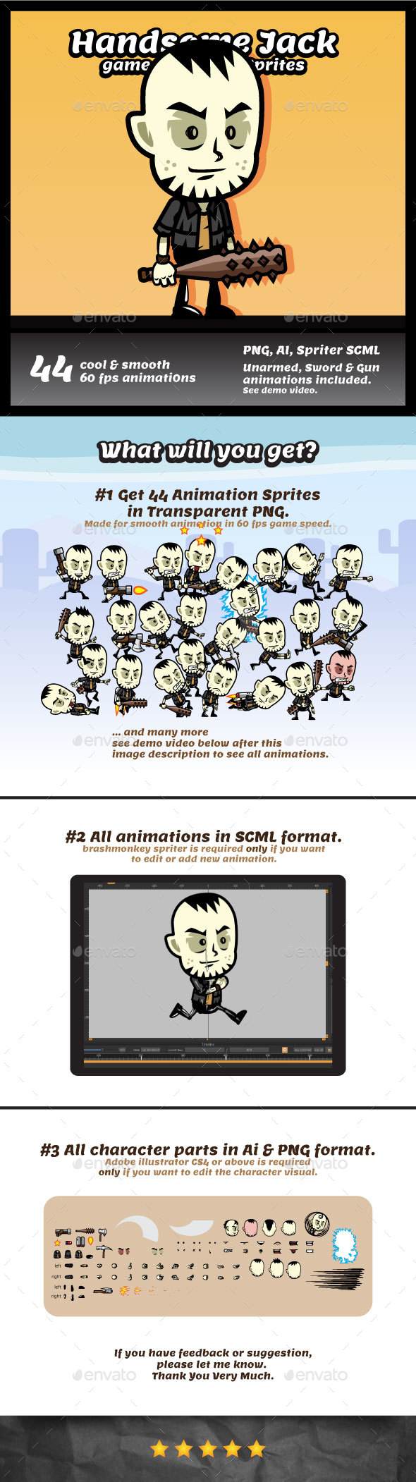 GraphicRiver Handsome Jack Game Character Sprites 20252840