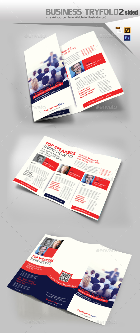 Conference TriFold Brochure - Brochures Print Templates