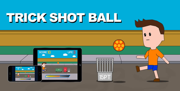 Trick Shot Ball - HTML5 Game