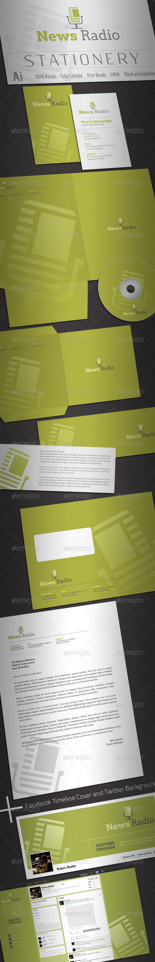 News Radio Stationery - Stationery Print Templates