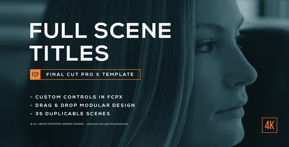 Full Scene Display Titles - FCPX