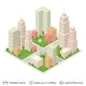 Isometric City Popular Structures - GraphicRiver Item for Sale