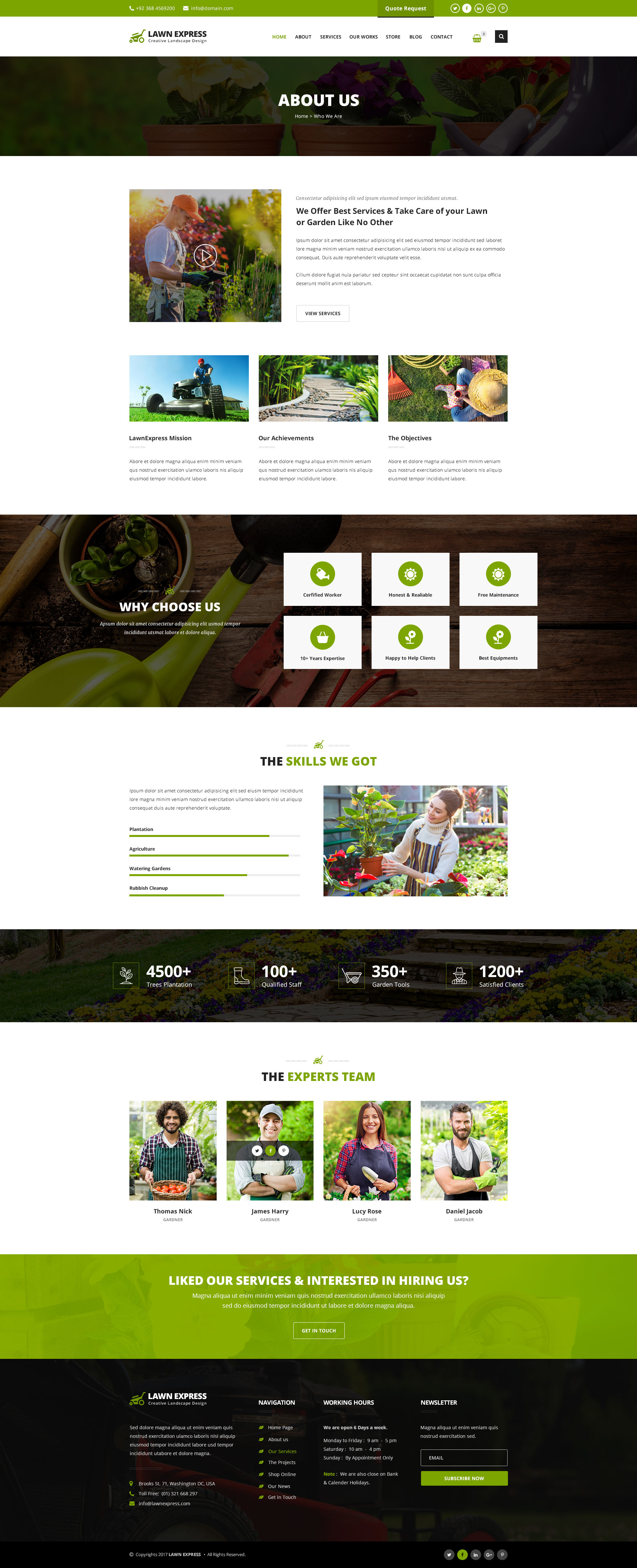 LawnExpress   Lawn Mowing, Gardening, Landscaping, Farming And Florist  HTML5 Responsive Template