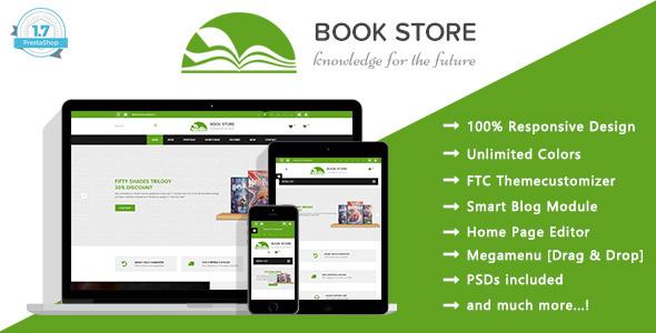ThemeForest Book Store Books Publisher Responsive Prestashop 1.7 Theme 20110043