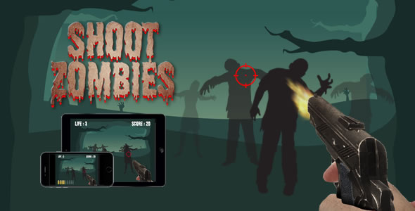 Shoot Zombies - HTML5 Game - CodeCanyon Item for Sale