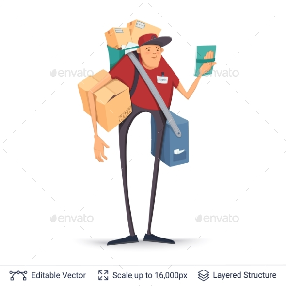 GraphicRiver Deliveryman Isolated on White 20253262