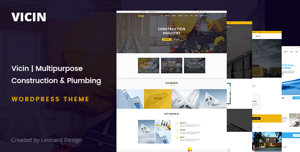 ThemeForest Vicin Construction Business WordPress Theme 20253290