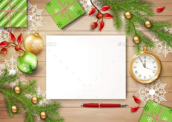 Christmas Vector Top View Background - Christmas Seasons/Holidays