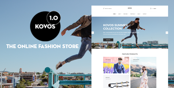 Kovos - The Online Fashion Store PSD Template