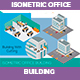 Isometric Office Building - GraphicRiver Item for Sale