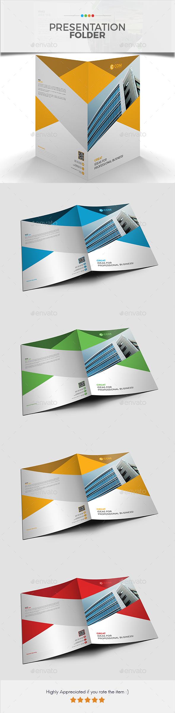 Presentation Folder 03 - Stationery Print Templates
