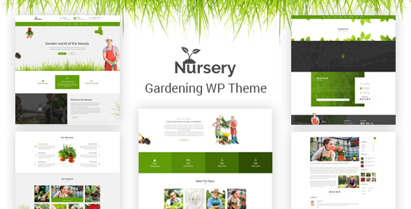 Nursery - Gardening and Landscaping WordPress Theme - Business Corporate
