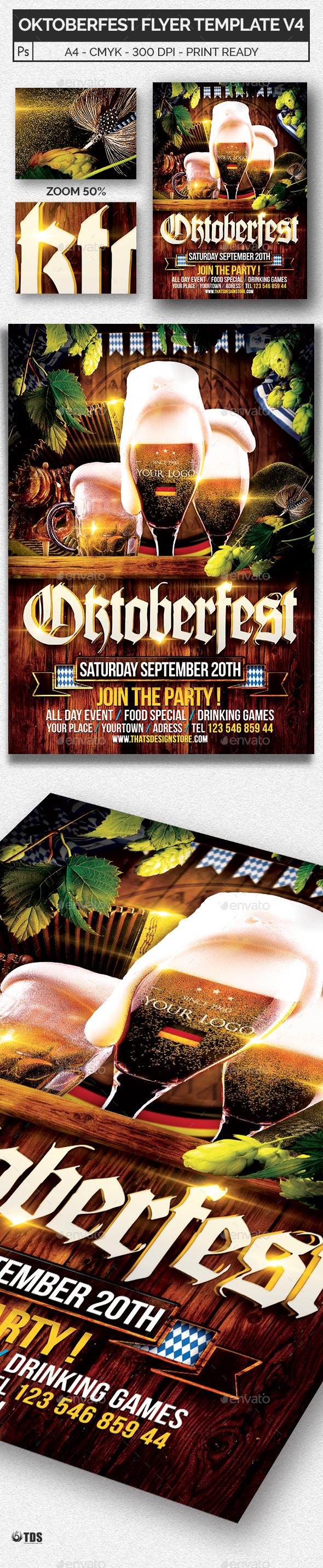 Oktoberfest Flyer Template V4 - Holidays Events