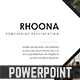 Rhoona Powerpoint Template - GraphicRiver Item for Sale