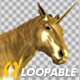 Golden Unicorn  - Stamping Hoof - Side View - VideoHive Item for Sale