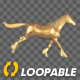 Golden Unicorn  - Gallop Cycle - Side View - VideoHive Item for Sale