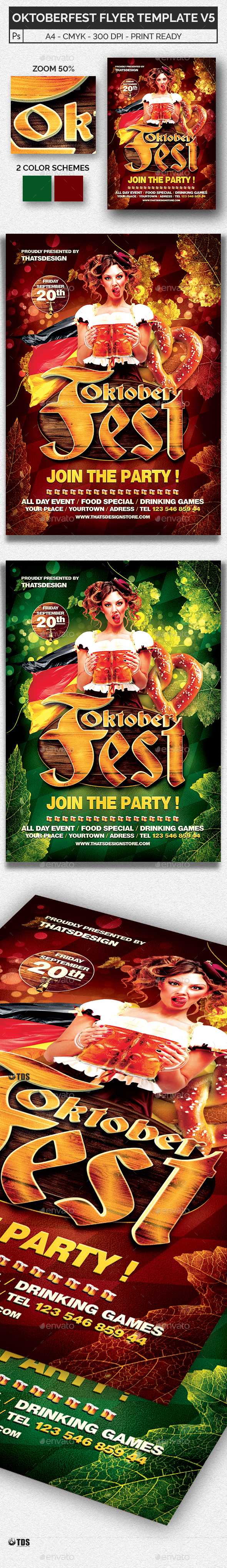 Oktoberfest Flyer Template V5 - Holidays Events