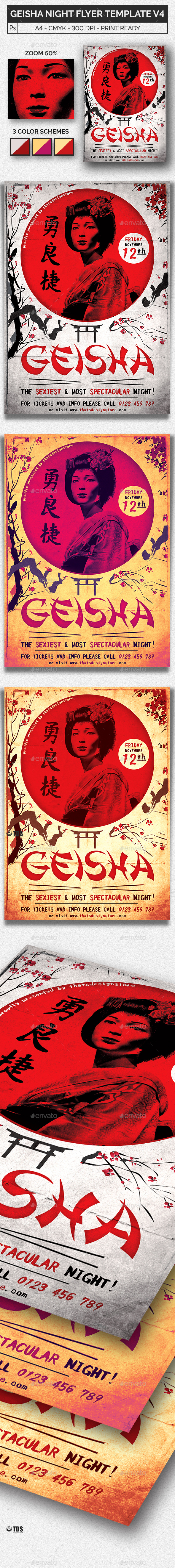 Geisha Night Flyer Template V4