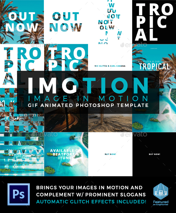 Imotion - Gif Animated Photoshop Template - Photo Templates Graphics