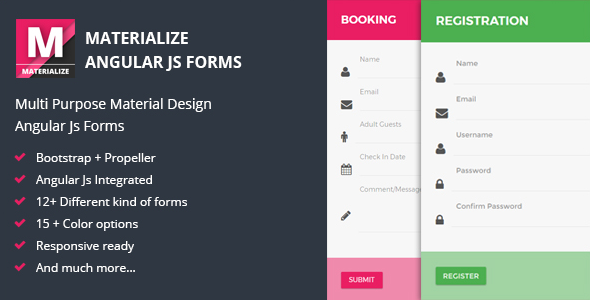 Materialize - Material Angular JS Forms
