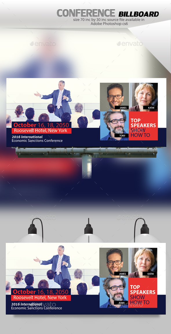 Conference Billboard - Signage Print Templates