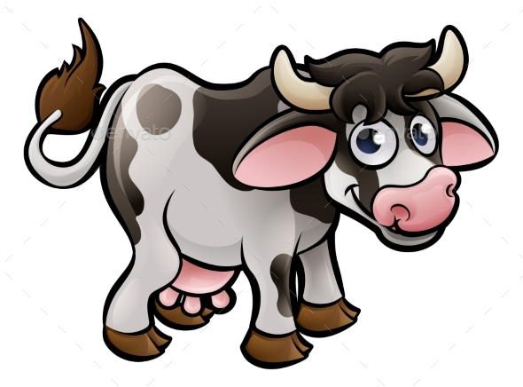 Cow Farm Animals Cartoon Character - Animals Characters