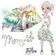 Fashion Girl in Manarola Italia - GraphicRiver Item for Sale