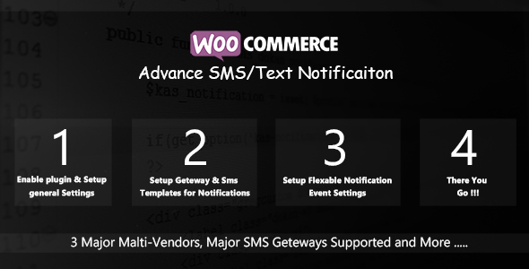 WooCommerce Advance SMS/Text Notification - CodeCanyon Item for Sale