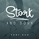 Stork and Dork font duo - GraphicRiver Item for Sale