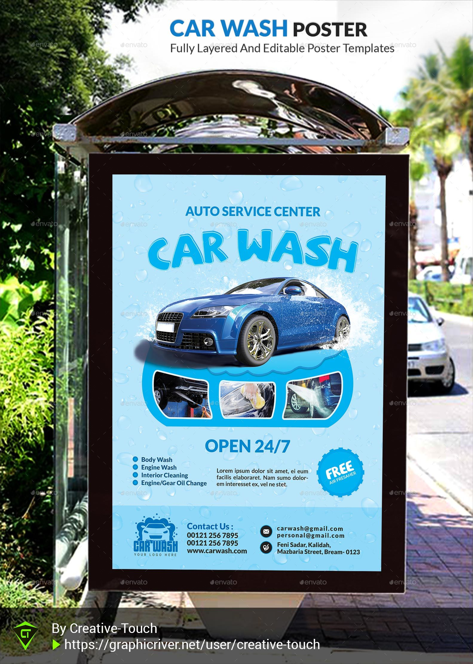 car wash advertising bundle vol 2 by creative