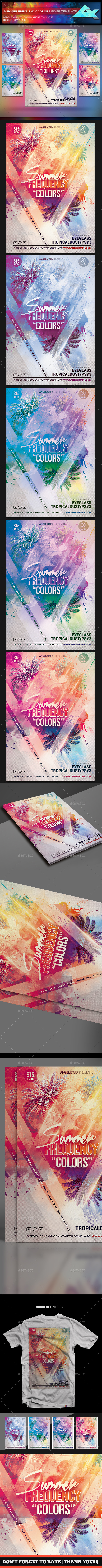 Summer Frequency Colors Flyer Template - Events Flyers