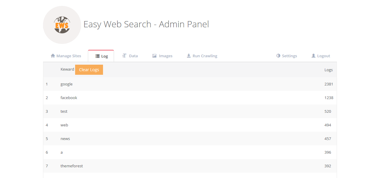 easy web search php search engine with image search and crawling