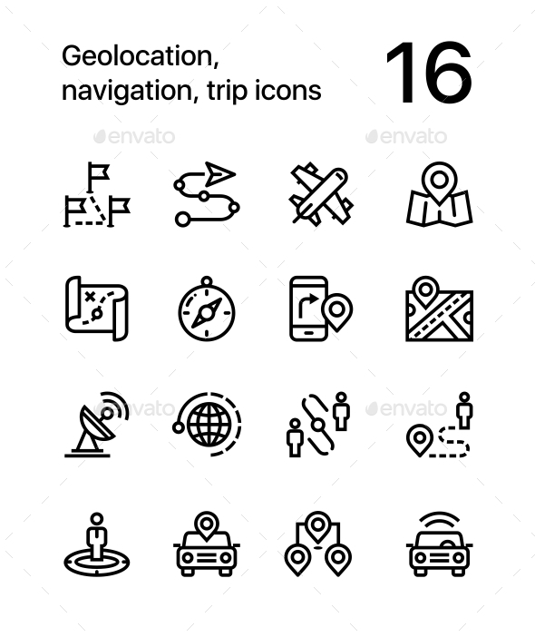 GraphicRiver Geolocation Navigation Trip Icons for Web and Mobile Design Pack 3 20254572