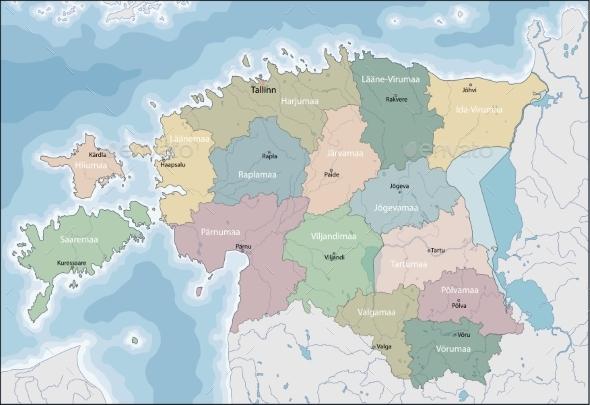GraphicRiver Map of Estonia 20254628