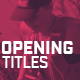 Modern Opening Titles