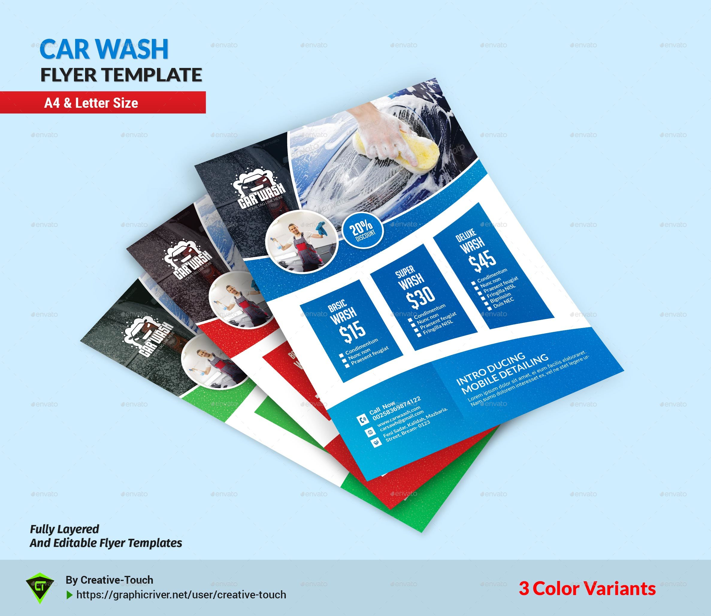 Car Wash Advertising Bundle Vol.3 By Creative-Touch