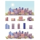 Vector Low Poly 2d Buildings and City Scene - GraphicRiver Item for Sale