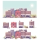 Vector Low Poly 2d Buildings and City Scene