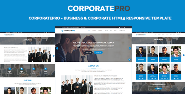 nulled template  corporatepro - business  u0026 corporate html5 responsive template