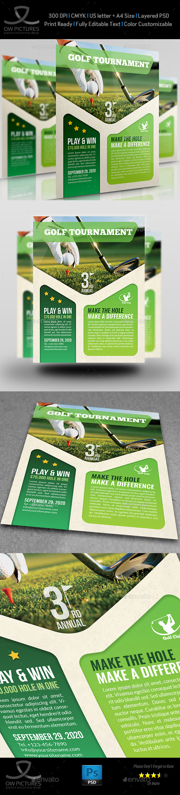 GraphicRiver Golf Flyer Template 20255017