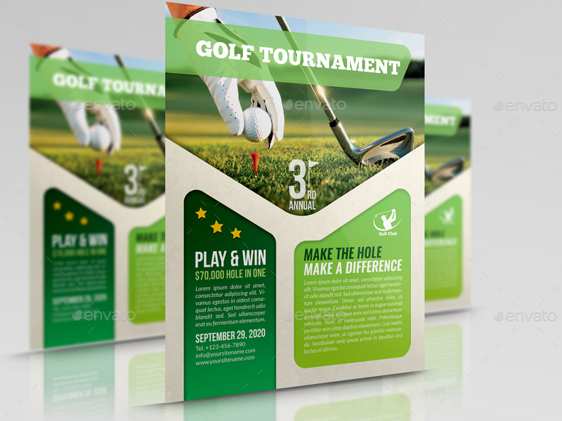 Golf Flyer Template By OWPictures GraphicRiver - Golf brochure template