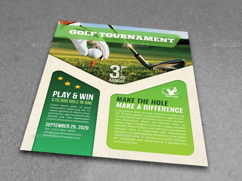 Golf Flyer Divingthexperienceco - Golf brochure template