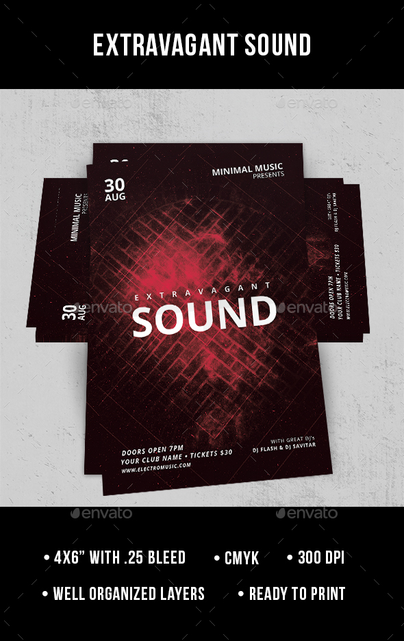 Extravagant Sound - Flyer - Clubs & Parties Events