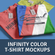 T-Shirt Mockups Infinity Color - GraphicRiver Item for Sale