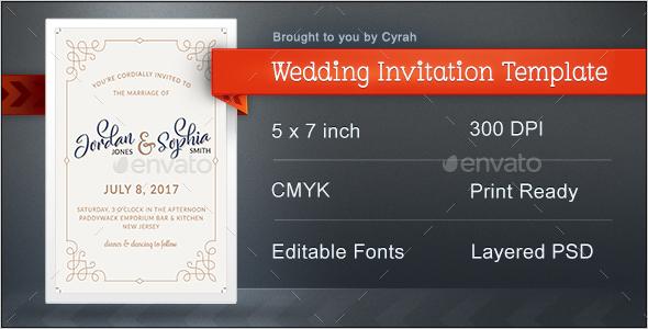 Wedding Invitation Template - Weddings Cards & Invites