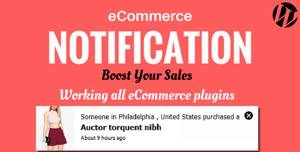 WordPress  eCommerce Notification (Miscellaneous) images