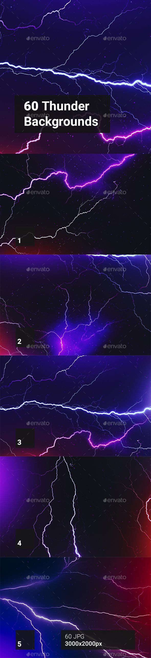 60 Thunder Backgrounds - Abstract Backgrounds