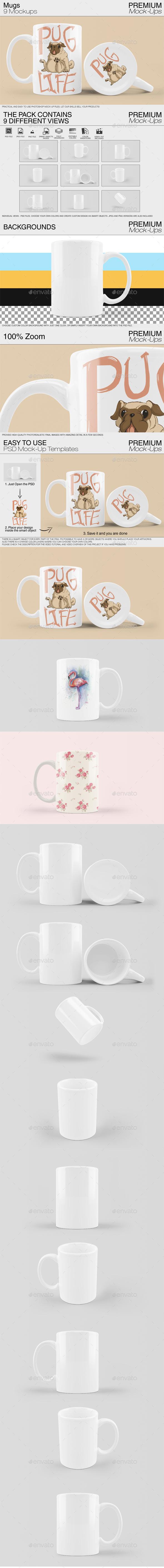 Mug Mockup Template - Print Product Mock-Ups