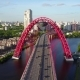 Aerial View at Red Zhivopisny Bridge in Moscow City - VideoHive Item for Sale